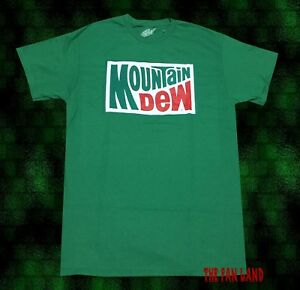 4a92bcf5f2a41 Details about New Mountain Dew Vintage Logo 1973 Green Mens T-Shirt