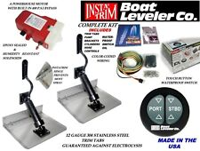 "Insta-Trim Boating Marine Trim Tab Kit 12""X11"" Water Proof Switch 2016"