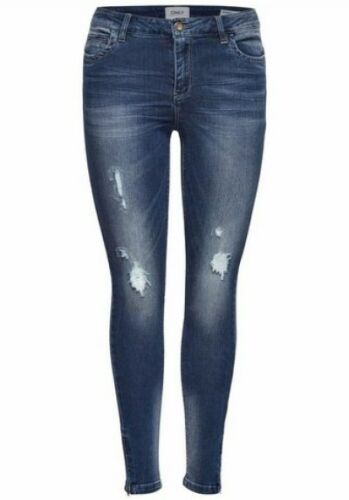 Only JEANS SKINNY Kendell w26-w28 l30 NUOVO donna stretch pantaloni blue used slim fit