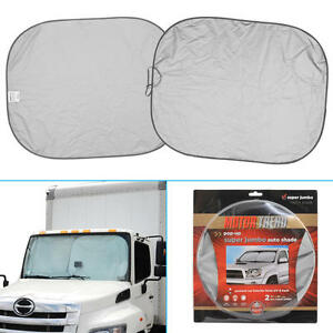 XXL Pop-Up Front Sun Shade Auto Visor Windshield for RV s ... 8317be991b8