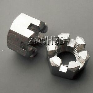 2pcs-M14-x-2mm-pitch-Moto-Car-Connecting-Rod-Wheel-Alxe-Hub-Castle-Nut-Stainless