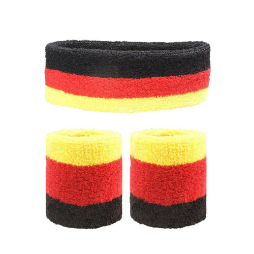 Running Sweat Absorbing 2 Pairs//set Striped Sweatband Set Exercise for Athletic