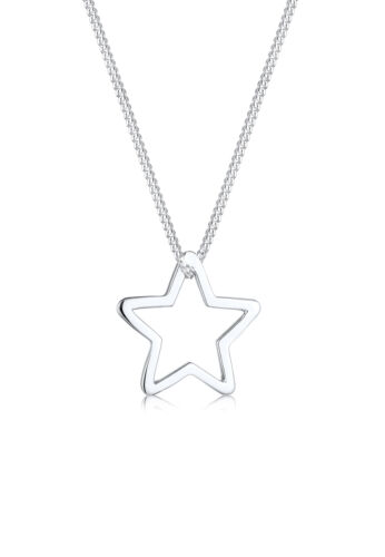 Stern Halskette 925 Sterling Silber Anhänger Symbol Kette Neu Elli