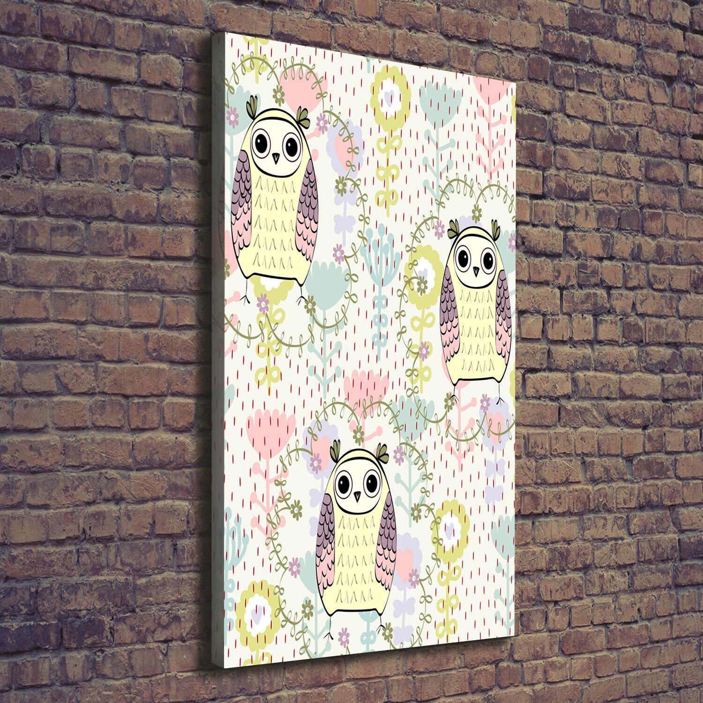 Leinwand-Bild Kunstdruck Hochformat 70x140 Bilder Eulen