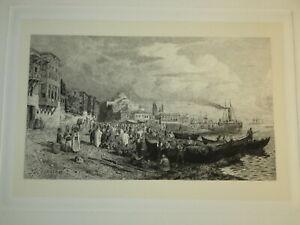 Themistokles VON ECKENBRECHER (Athens 1842-1921) GRAVURE ISTANBUL TURKEY OTTOMAN