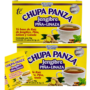 2 PACK Chupa Panza Detox Ginger Tea 60 Day Supply Te Chupa Pansa de Jenjibre NEW
