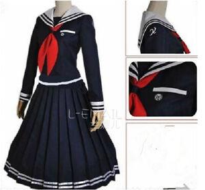 Danganronpa Dangan-Ronpa Toko Fukawa Cosplay Hallween Costume Any Size-Free ship