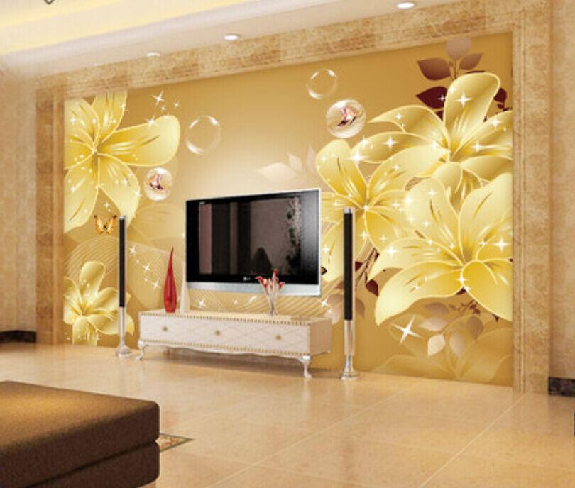 3D Modern Flowers 4195 Paper Wall Print Decal Wall Wall Murals AJ WALLPAPER GB