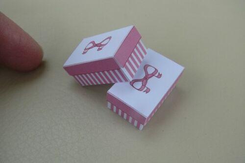 1//12th Casa De Muñecas-Bonito cajas de zapatos-SG
