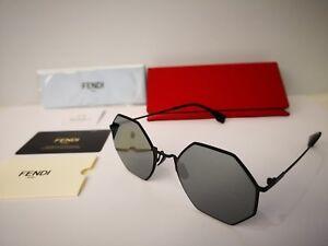 e283cbb7ee4c2 New Fendi Eyeline FF 0292 S 807 T4 Sunglasses, Black Frame   Black ...