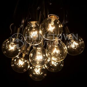 Merveilleux Image Is Loading G40 Clear Outdoor Patio Globe String Lights 100