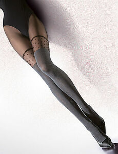 Fashion-Tights-Pattern-Stockings-Fiore-Woman-Black-40DEN-Patterned-Tights