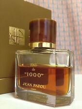 Vintage 70s Eau de 1000 Jean Patou 1 oz 30 ml Eau de Parfum CRYSTAL Old Formula