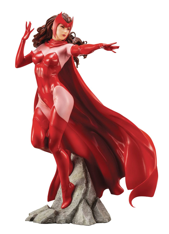 Marvel - comics - universum  scarlet hexe artfx + statue abbildung von kotobukiya