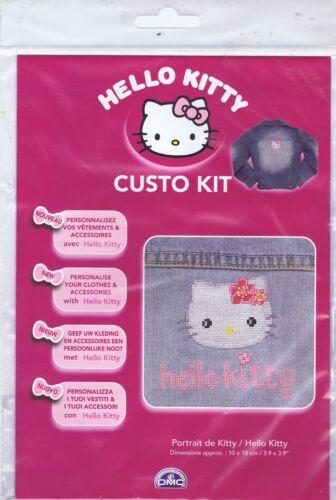 Hello Kitty Custo Cross Stitch Kit de DMC utilizando residuos De Lona