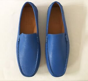 17035d24cd8 Image is loading Men-Mercanti-Fiorentini-Pebble-grain-Leather-Loafer-Royal-