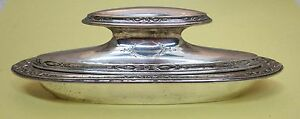Vintage-Alvin-Sterling-925-Nail-Buffer-w-Case-2-Pc-Great-Shape-Floral-SHP