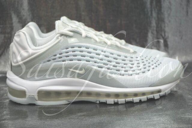 Nike Air Max Deluxe Triple White Reflective Pure Platinum AV2589 100 Men Sz 7.5