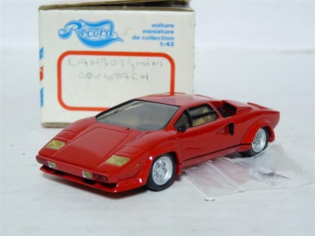Envío y cambio gratis. Record 1 43 Lamborghini Countach Resina Coche Modelo Modelo Modelo hecho a mano  bienvenido a elegir