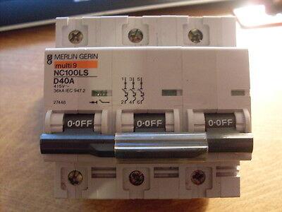 MERLIN GERIN SCHNEIDER multi 9 C60H interruttori automatici 6a-50a TIPO B C D 2 3 /& 4