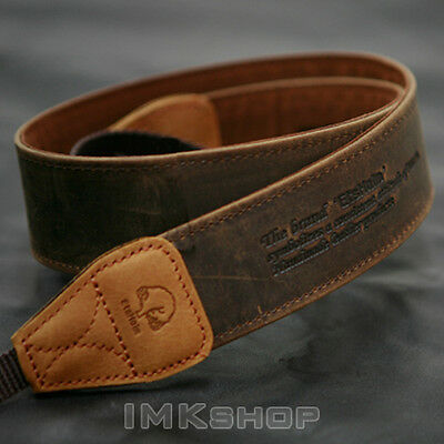 NEW MATIN Vintage-38 BROWN Leather Camera Strap for Canon Nikon Sony DSLR SLR
