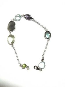 Labradorite-Amethyst-B-T-Natural-Gemstone-925-Sterling-Silver-Bracelet-8