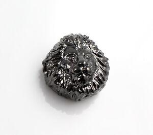 """2 Metallperlen /""""Sparta/"""" anthrazit Ø 1,5 mm Armband herstellen Krieger schwarz"""