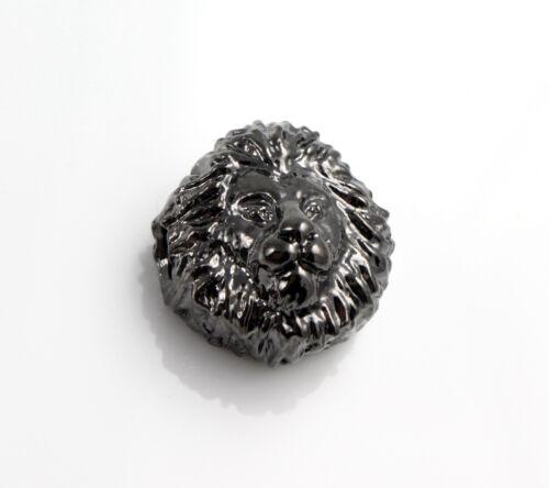"""Armband herstellen perlenband lion 3 Metallperlen /""""Löwe/"""" schwarz Ø 2 mm"""