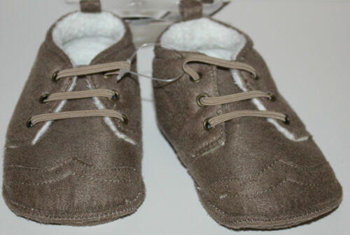 Carter/'s Infant Boy Light Brown Faux Fur Shoes Size Newborn NWT