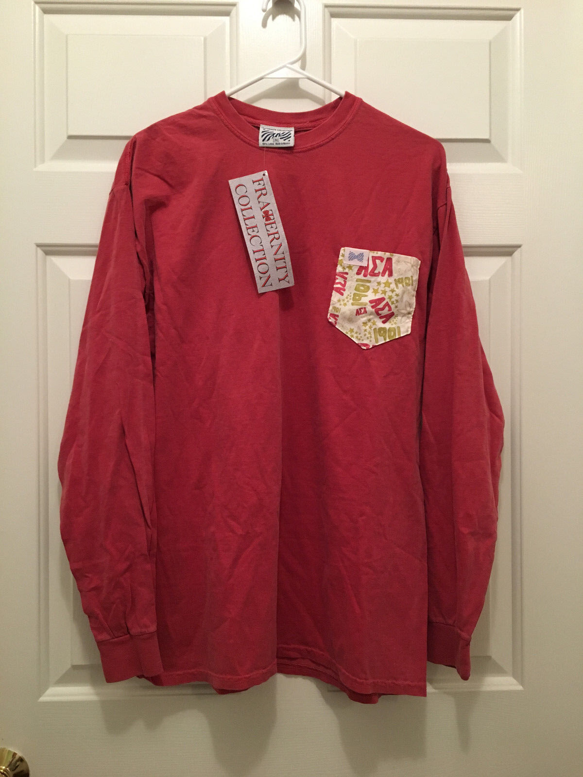 NWT Alpha Sigma Alpha Women's Sgoldrity Collection Red Long Sleeve T-Shirt Small