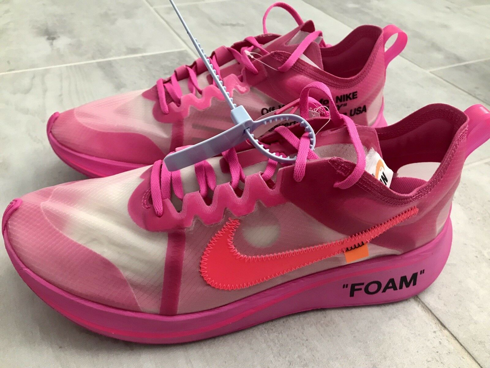 Nike The Ten Off White X Nike Zoom Fly Fly Fly Tulip Pink Size 14 Virgil Serena Williams d2b48d