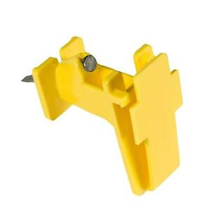 Zareba IWTNY-Z Polytape Wood Post Insulator, Yellow