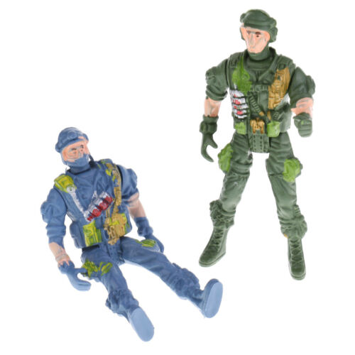5pcs Plastic Military Playset Toy 9cm Paratroopers Soldier Figures Kids Toy