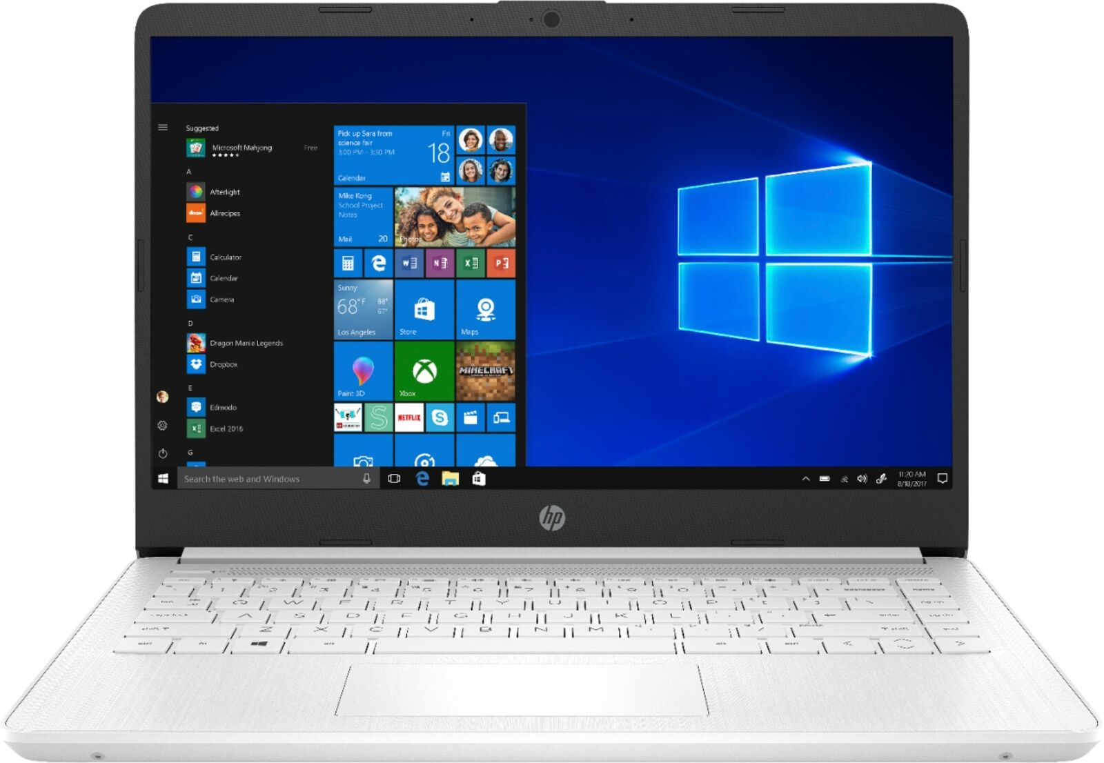 "HP - 14"" Laptop - Intel Celeron - 4GB Memory - 64GB eMMC - Snowflake white"