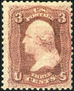 1861-US-65b-A25-3c-Mint-Laid-Paper-Variety-Catalogue-Value-8000-Certified