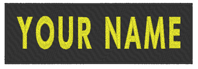 """Custom Embroidery 5/"""" x 3/"""" Name Tag 2 LINES Patch With VELCRO® Brand Fastener #1"""