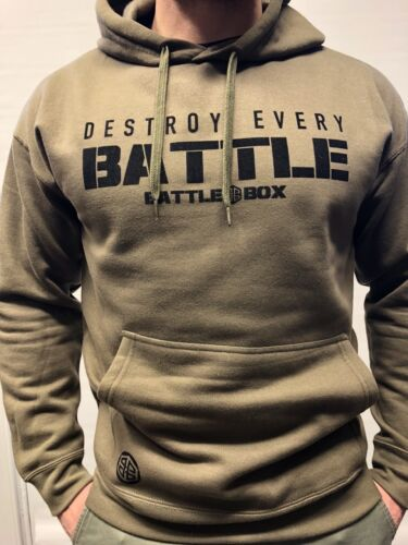 Hoodie ™ Every Battlebox Armygreen Crossfit Battle destroy Fitness Pull Uk Over 6ZnF7q