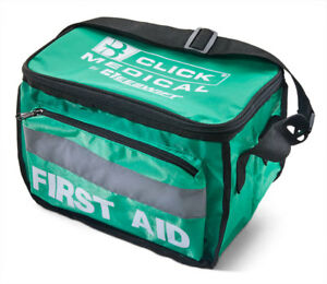 Click-Medical-Empty-Green-Heavy-Duty-First-Aid-Kit-Bag-Waterproof-Paramedic-New