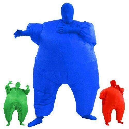 AirSuits Inflatable Fat Chub Suit Second Skin Fancy Dress Party Costume- BLUE