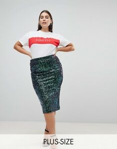 Lost-Ink-Plus-Pencil-Midi-Skirt-Brand-new-with-tags-Free-P-amp-P-size-20