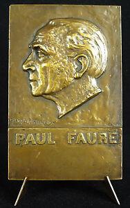 Medaille-aux-politiques-Leon-Blum-et-Paul-Faure-c-1930-SFIO-Henri-Regnauld-medal
