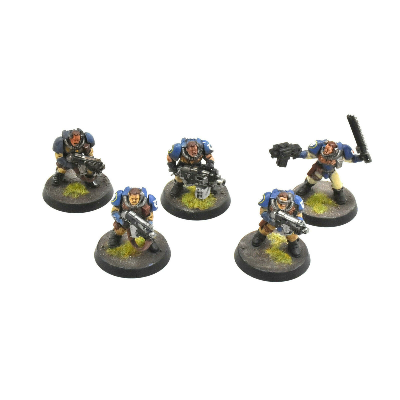 SPACE MARINES 5 scouts  3 WELL PAINTED Ultramarines scout squad