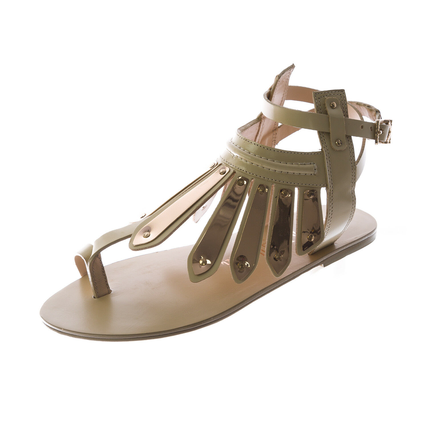 IVY KIRZHNER Women's Natural Woven Leather Soleil Thong Sandals NEW