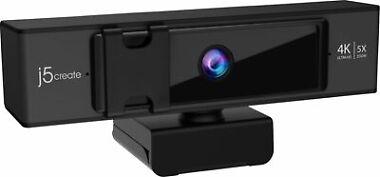 j5create USB 4K Ultra HD Webcam with 5x Digital Zoom Remote Control