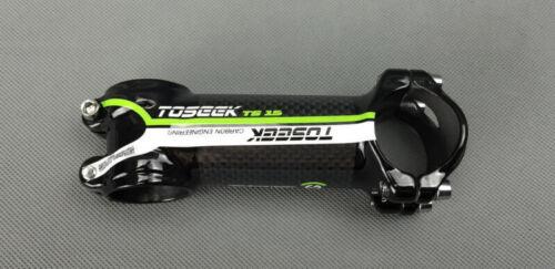 1pcs Ultra-light Carbon Fiber 3K 7° 31.8*60-110mm MTB Road Bike Handlebar Stem
