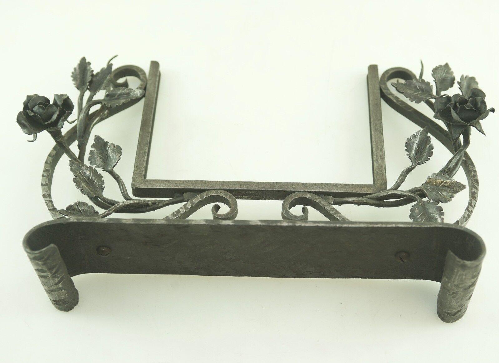 ANTIQUE ART DECO FER FORGE FER FORGE images miroir miroir miroir cadre zierst nder alt | Faible Coût  f8d886