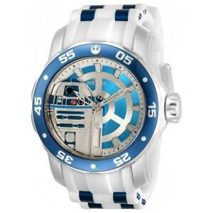 Invicta-Men-039-s-Watch-Star-Wars-Rotating-Bezel-Two-Tone-Blue-and-White-Strap-32518