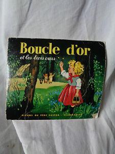 Fibbia Oro E I Tre Orso Album Del Babbo Castor Flammarion 1956