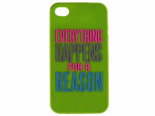 Natural Life Everything Happens iPhone 4s 4 Cell Phone Case Cover Rubber Skin
