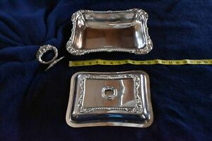 Antique-Shefflifld-Plate-Covered-Serving-Dishes